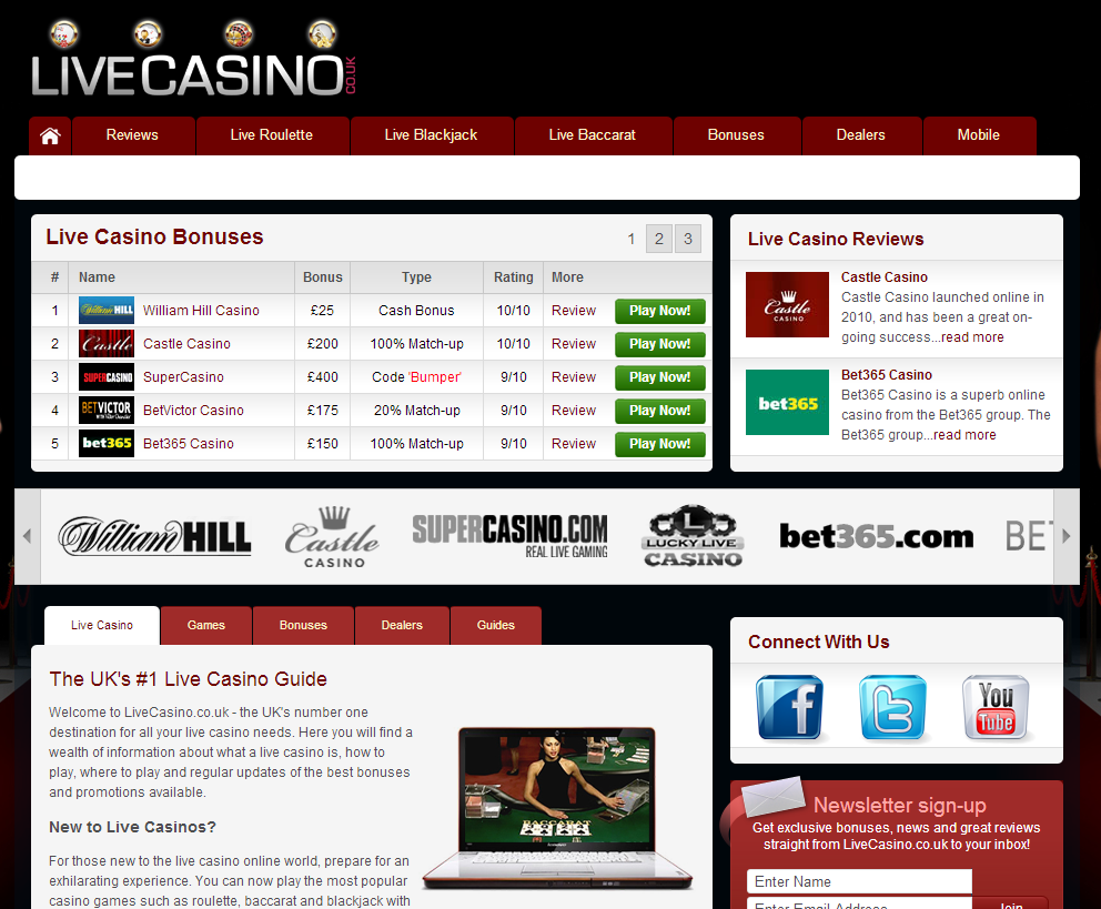 livecasino.com banner research