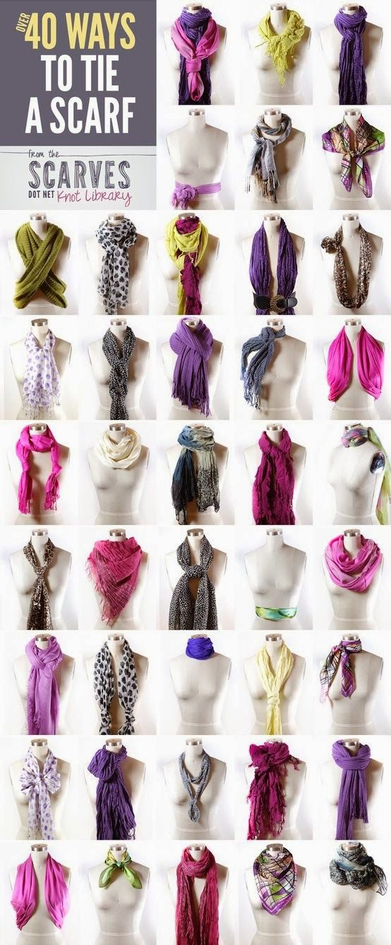 40 ways to tie the scarf