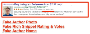 Faking rich snippets