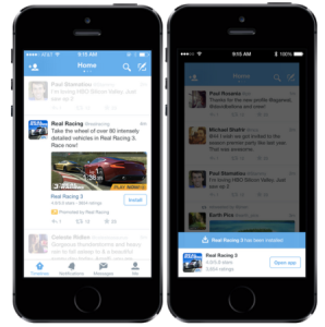 Twitter introduces mobile app promotion