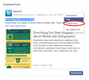 How to schedule posts on Facebook for business
