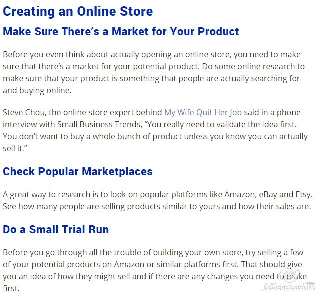 Tips for Creating an online store