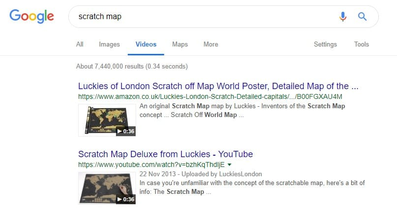 scratch map video on google