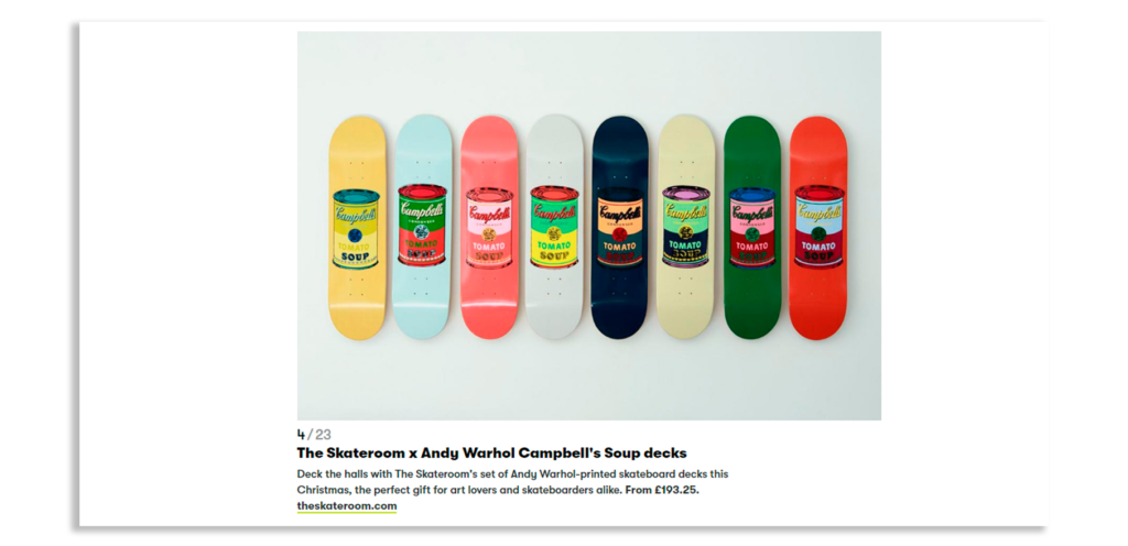 The Skateroom x Andy Warhol Campbell's Soup decks
