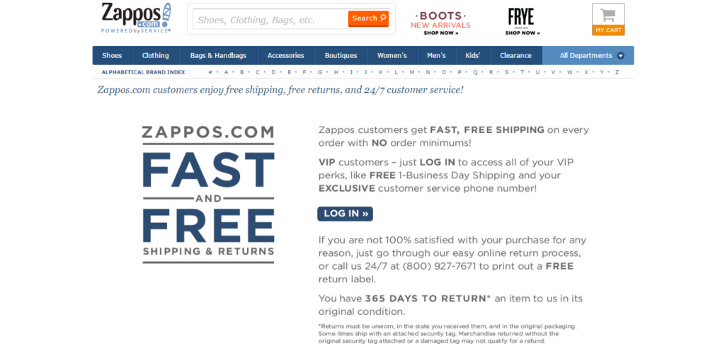 zappos fast free